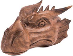 Cabeza de Dragón tallada en madera Targaryen