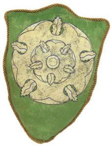 Cojín con escudo de la Casa Tyrell de Altojardín
