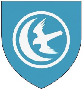 Escudo Blasón de la Casa Arryn del Nido de Águilas