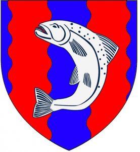 Escudo blasón de la Casa Tully de Aguasdulces en las Tierras de los Ríos