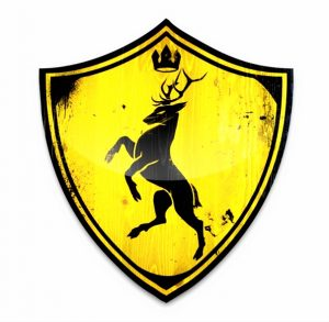 Escudo-de-la-Casa-Baratheon-de-Bastión-de-Tormentas-en-las-Tierras-de-las-Tormentas