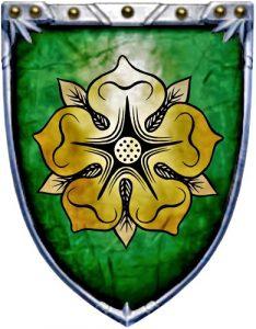 Escudo de la Casa Tyrell de Altojardín de las Tierras de Dominio