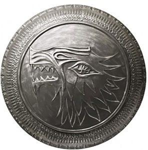 Escudo grabado de coleccionsita de la Casa Stark