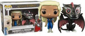 Funko Pop de Daenerys Targaryen y Dragón, dos figuras