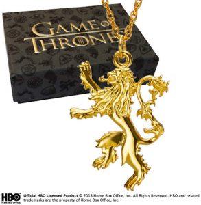 Game of Thrones Lannister Colgante Plata de Ley chapada en Oro