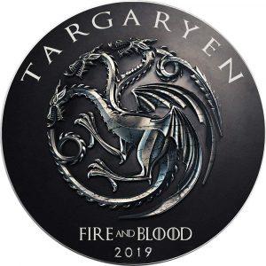 Moneda de plata sólo 250 en el mundo de la Casa Targaryen
