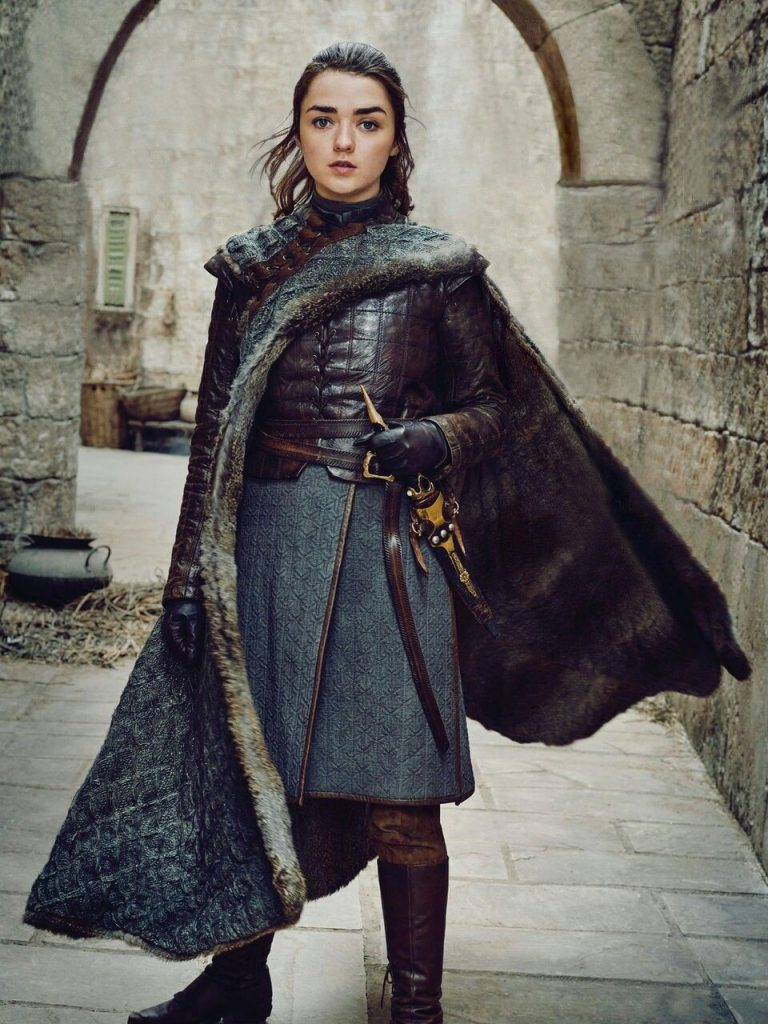Personaje Arya Stark segunda hija de Ned y Cat