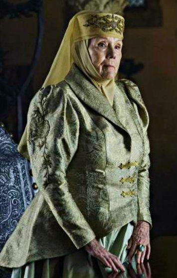Personajes de GOT Olenna Tyrell de Altojardín de la Casa Tyrell, Tierras del Dominio