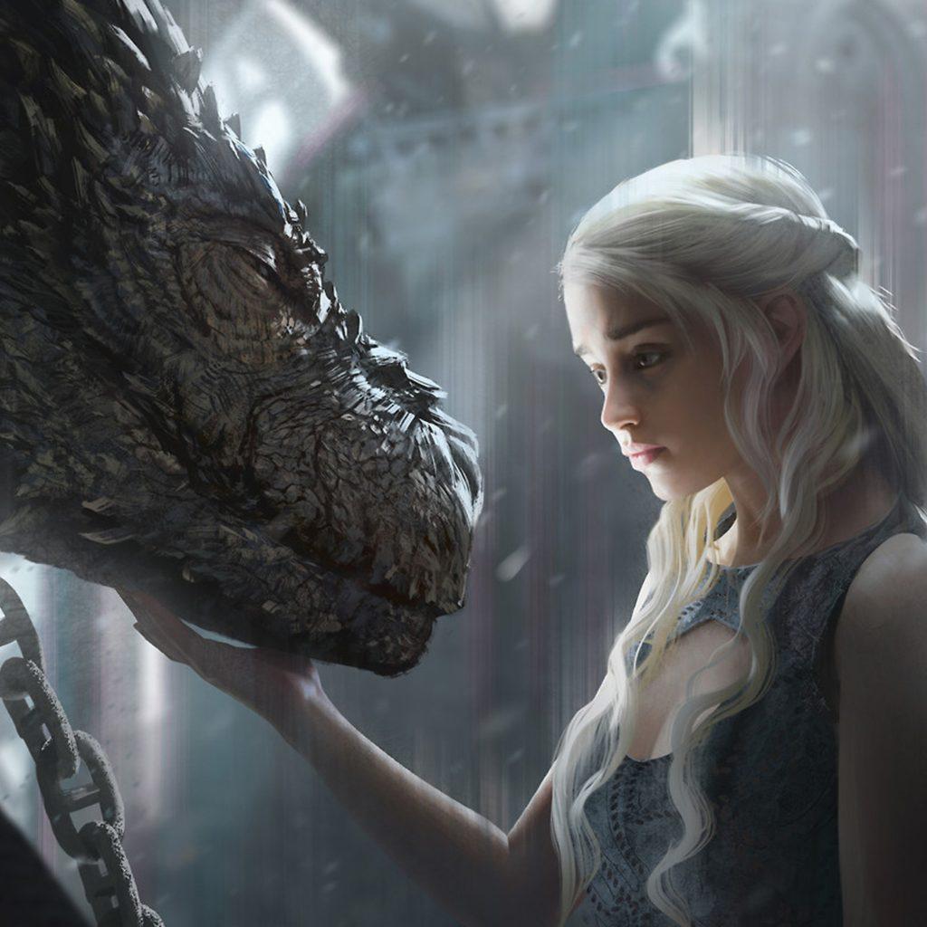 Personajes de Game of Thrones Daenerys Targaryen, Madre de Dragones de la Casa Targaryen