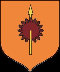 Personajes de Juego de Tronos, Escudo blasón de la Casa Martell de Punta del Sol