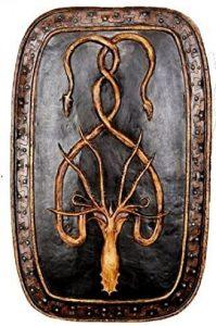 Placa de pared con blasón o emblema de la Casa Greyjoy de Islas del Hierro