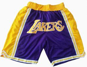 Ropa el Príncipe de Bel Air, pantalones basket retro Lakers