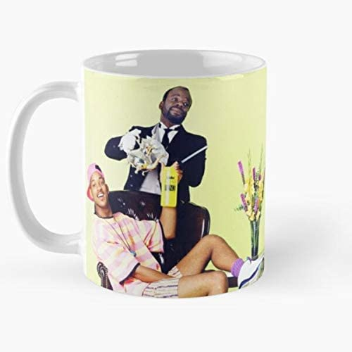 Taza de café divertida, personajes Will Smith y Geoffrey
