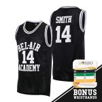 Camiseta Fresh Prince of Bel Air Academy Jersey Will Smith incluir Set Pulseras