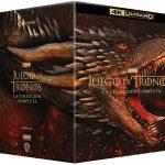 Colección completa de Juego de Tronos 8 temporadas en 4k, Blu Ray y DVD
