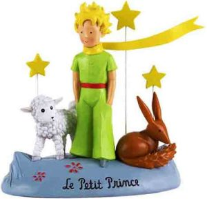 Le Petit Prince Figura de El Principito con conejito y oveja para coleccionar Enesco
