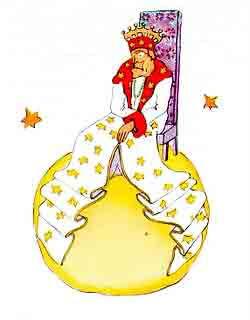 Características del rey del Principito